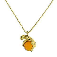 Cartier Panthere de Cartier Yellow Gold Necklace with Citrine Stone