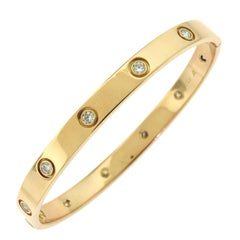 Cartier 18 Karat Rose Gold Ten Diamonds Love Bracelet