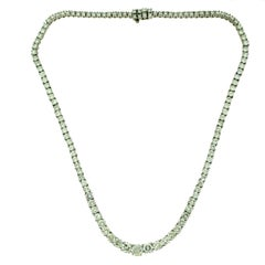 Carat Diamonds Tennis Line Platinum Necklace
