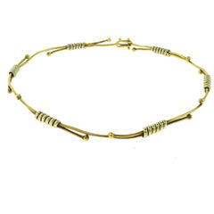 "Cartier ""Tigresse"" Yellow and White Gold Twist Cable Choker Vintage Necklace"
