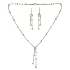 Tiffany & Co. Circlet Double Drop Diamond Two Piece Platinum Set