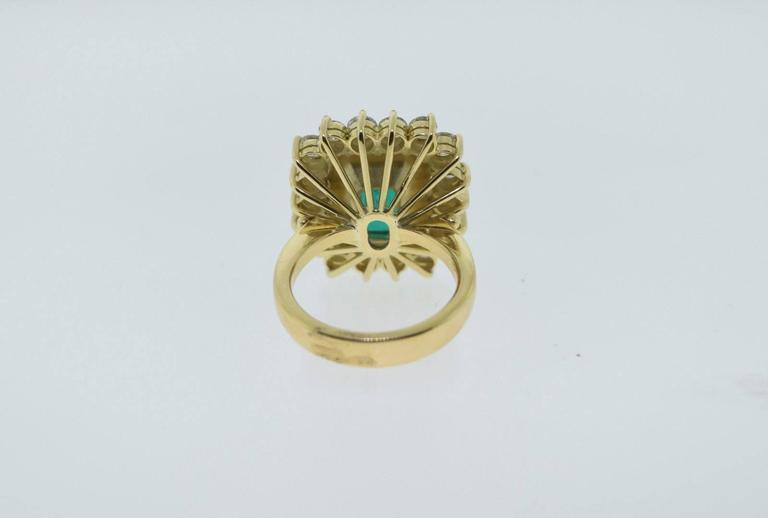 8 5 Carat Colombian Emerald Natural Beryl Diamonds Gold Ring at