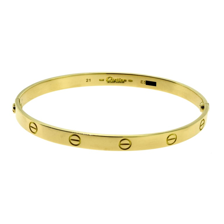 Cartier Love Bracelet in 18 Karat Yellow Gold For Sale 1