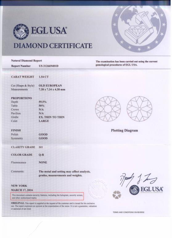 Sapphire 1.54 Carat Diamond Platinum Engagement Ring 8