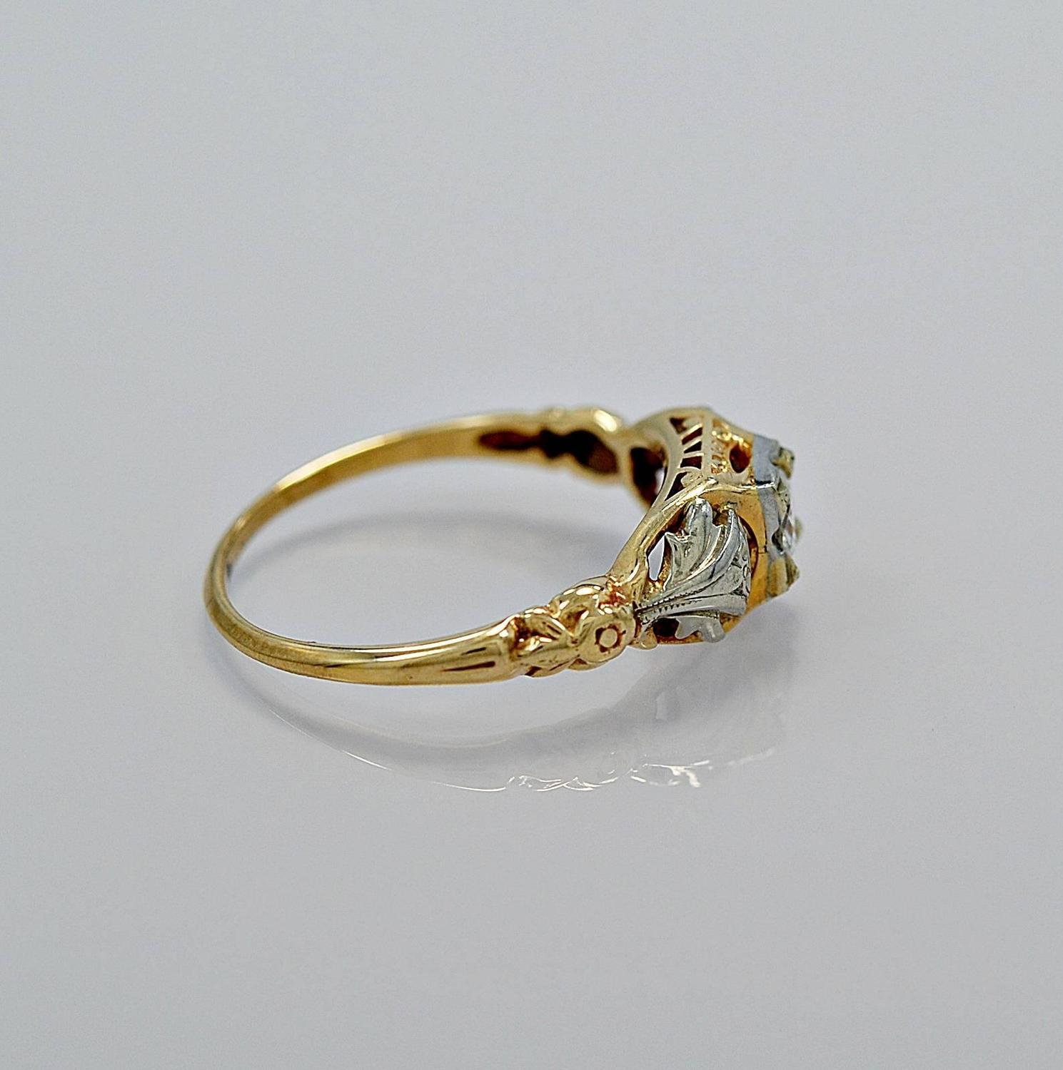 jaybel jewelry jabel antique two color gold engagement ring for 8760