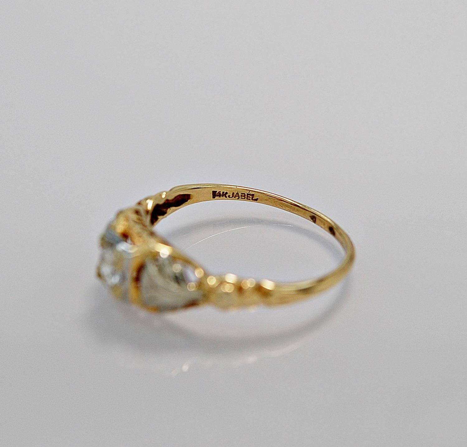 jaybel jewelry jabel antique two color gold engagement ring for 1986