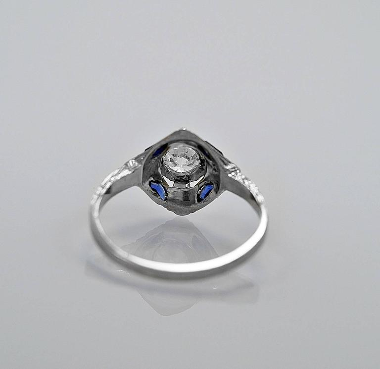 antique engagement ring 43ct sapphire and 18k