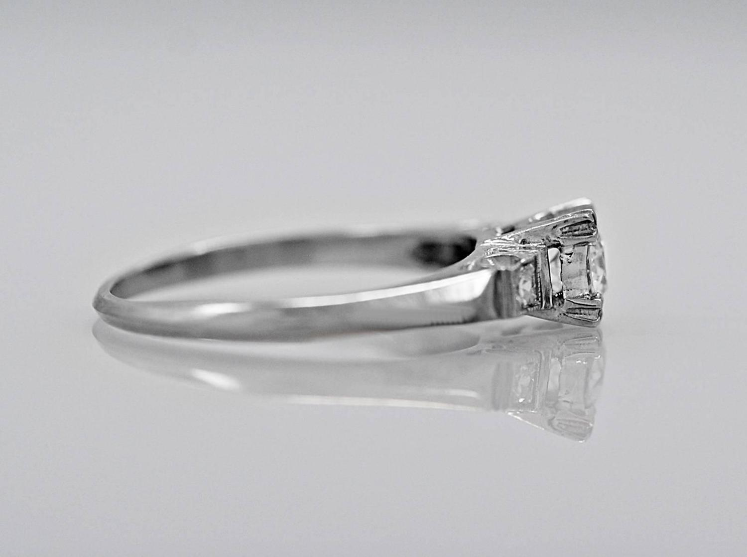 25 Carat Diamond and White Gold Engagement Ring at 1stdibs