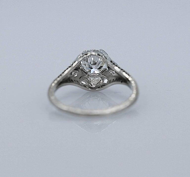 1 08 carat 18 karat white gold antique engagement