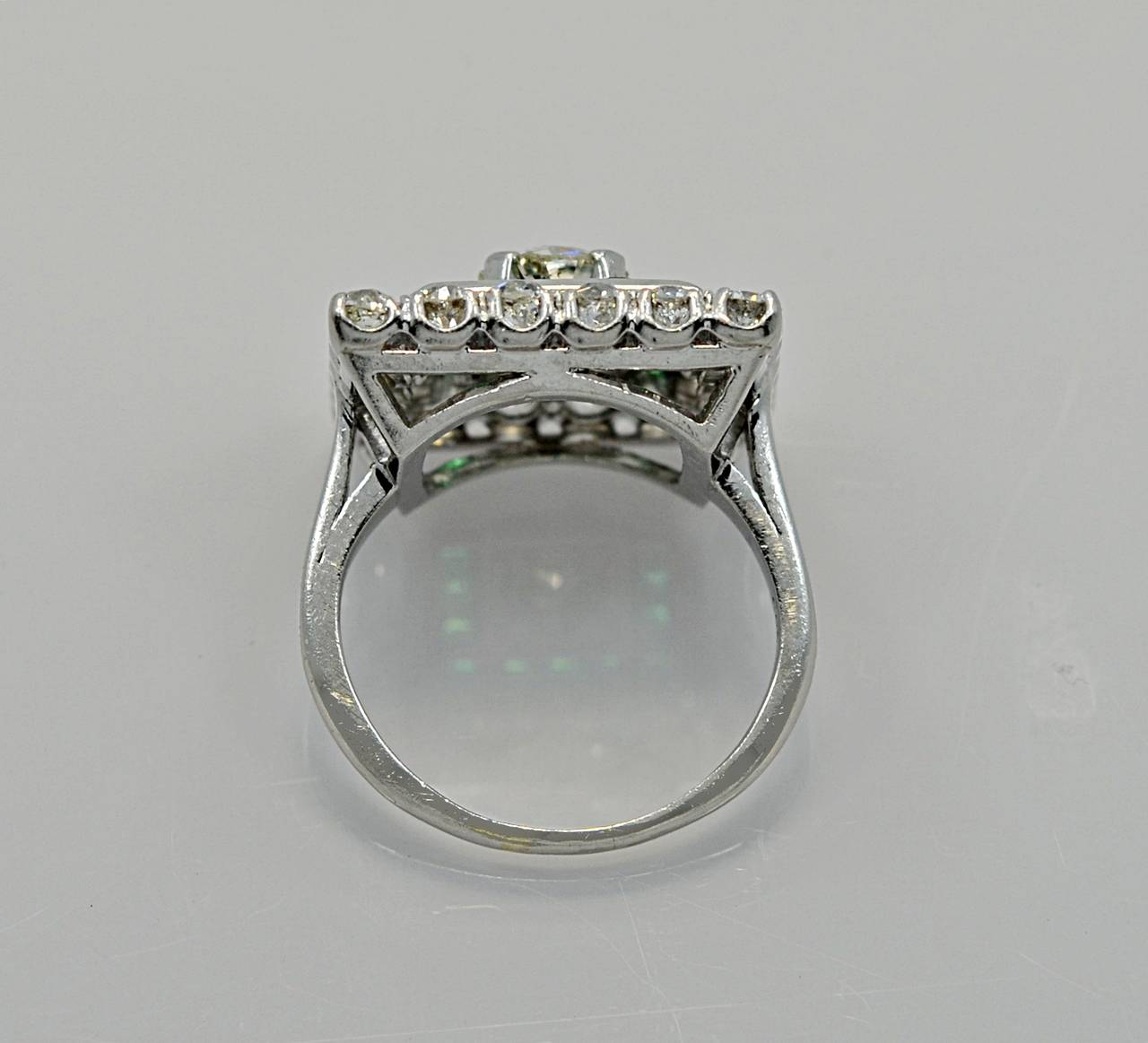 jaybel jewelry jabel deco emerald platinum engagement 4165