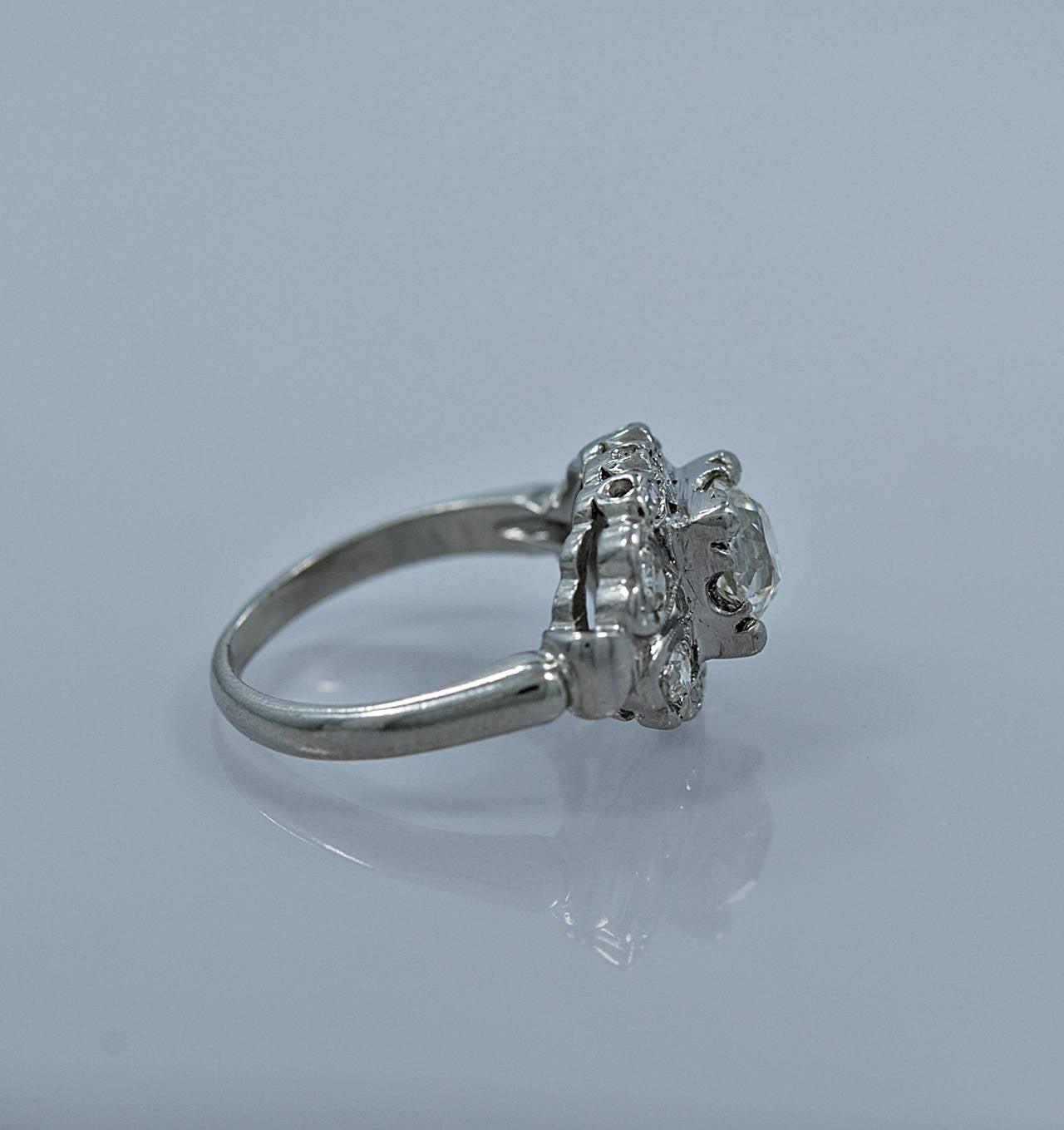 deco 1 00 carat platinum engagement ring for