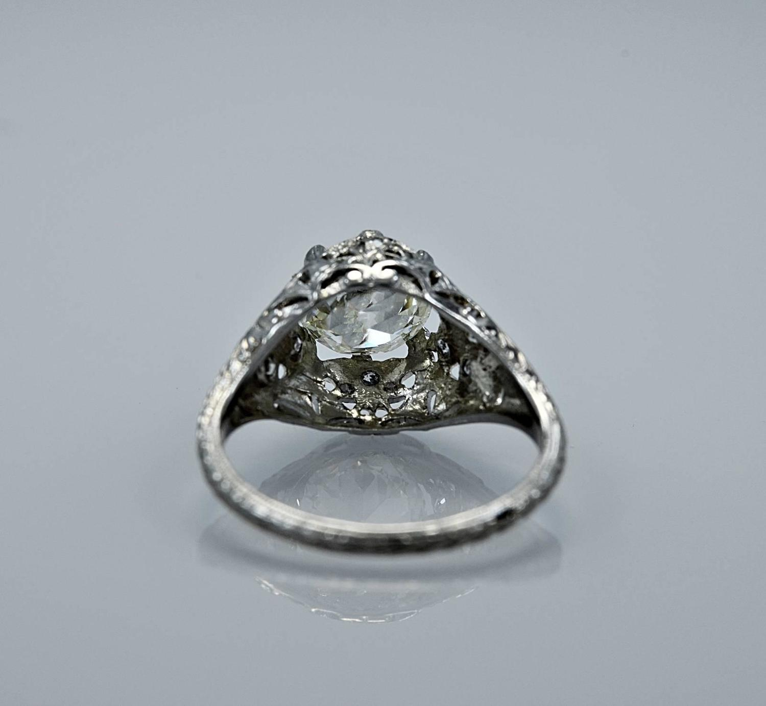 Art Deco 2 00 Carat Diamond Platinum Engagement Ring For Sale at 1stdibs