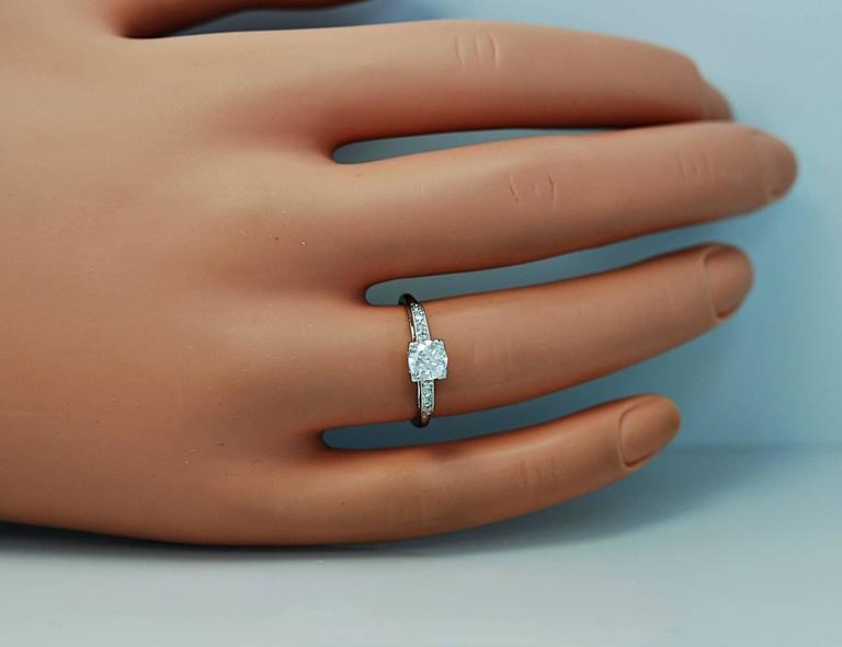 Amazing Art Deco .54 Carat Diamond Platinum Engagement Ring For Sale 2