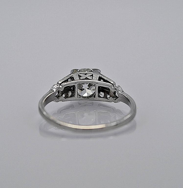 Gorgeous 1.16ct. Diamond Platinum Art Deco Engagement Ring 3
