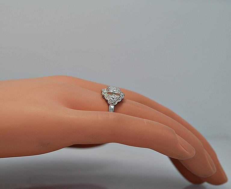 Art Deco Diamond Platinum Engagement Ring At 1stdibs