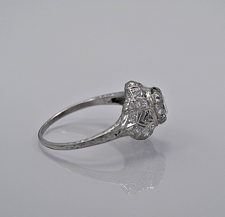 Art Deco 1 30 Carat Diamond platinum Engagement Ring at 1stdibs