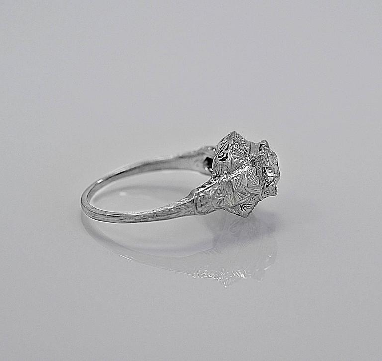 Antique 88 Carat Diamond Gold Engagement Ring For At 1stdibs Vintage Shire