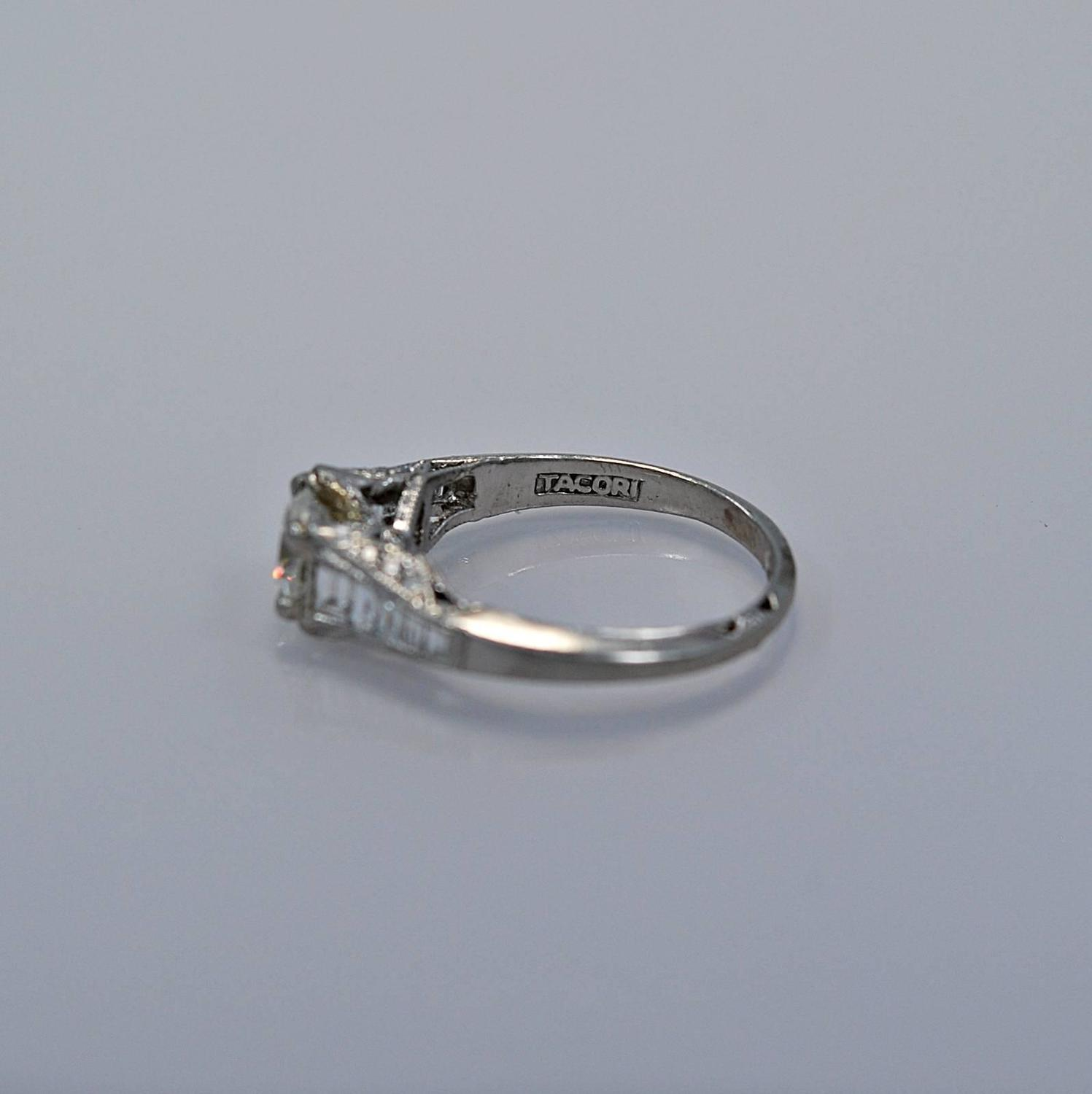 Sensational Tacori Diamond Platinum Engagement Ring For Sale at 1stdibs