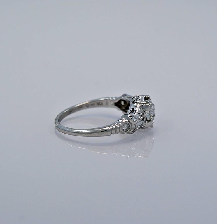 beautiful platinum deco 55ct engagement ring