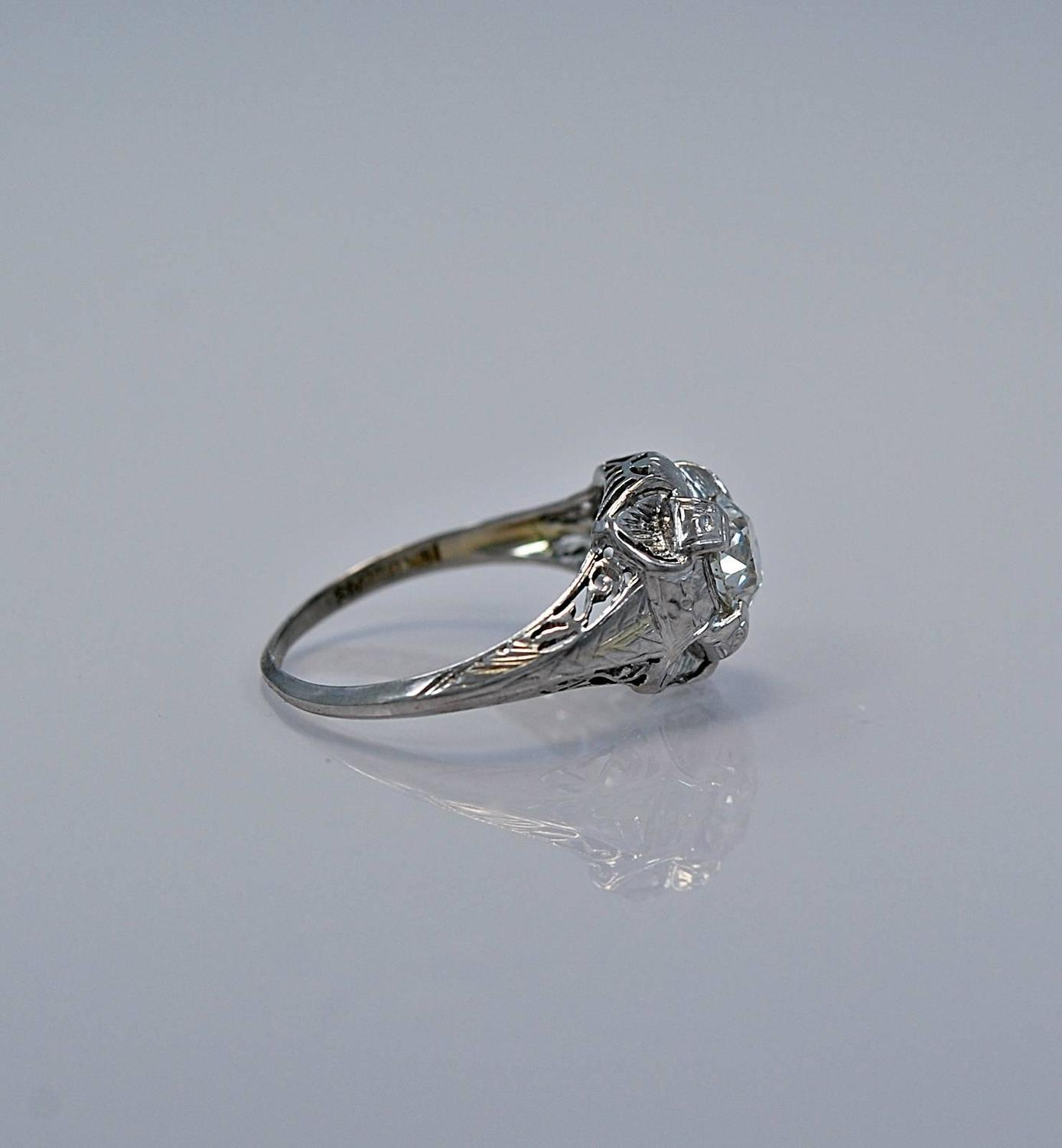 deco gold engagement ring for sale at 1stdibs