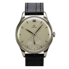 Omega Stainless Steel Wristwatch circa 1950s