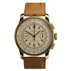Longines Yellow Gold Chronograph Wristwatch circa 1940s