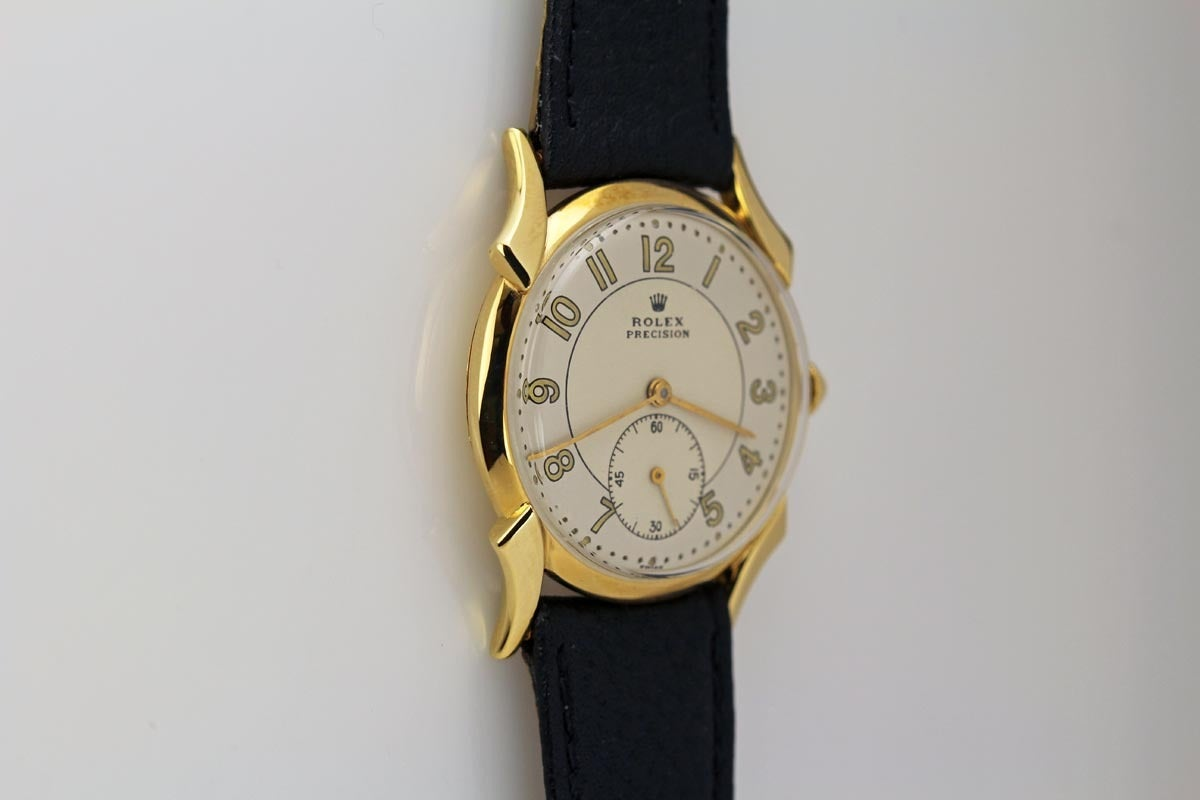 Rolex Yellow Gold Precision Wristwatch Ref 4477 Circa 1958