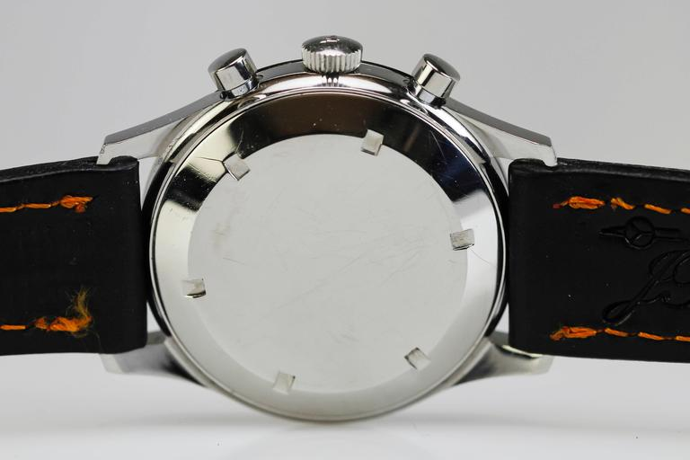 Wittnauer Stainless Steel Professional Chronograph Wristwatch c. 1960's 2