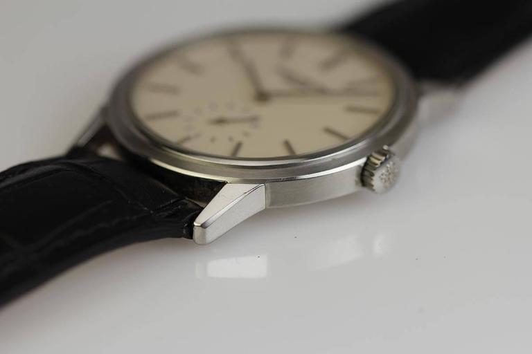 Patek Philippe Stainless Steel Calatrava Japanese Special Ed Wristwatch Ref 3718 3