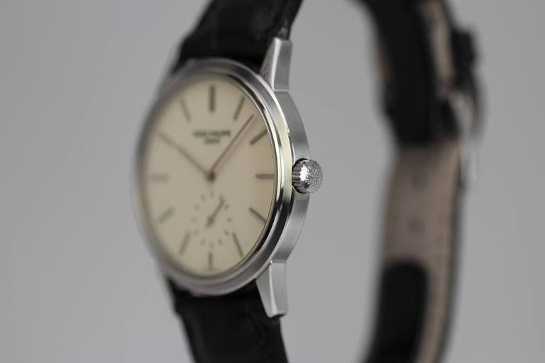 Patek Philippe Stainless Steel Calatrava Japanese Special Ed Wristwatch Ref 3718 6