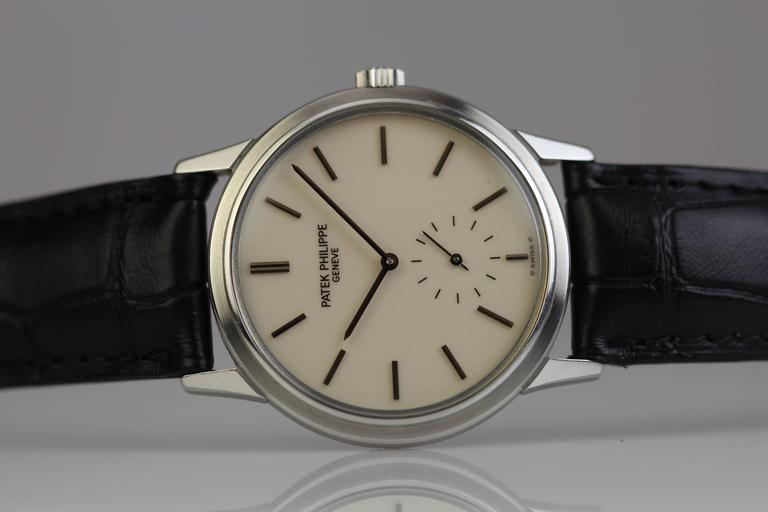 Patek Philippe Stainless Steel Calatrava Japanese Special Ed Wristwatch Ref 3718 5