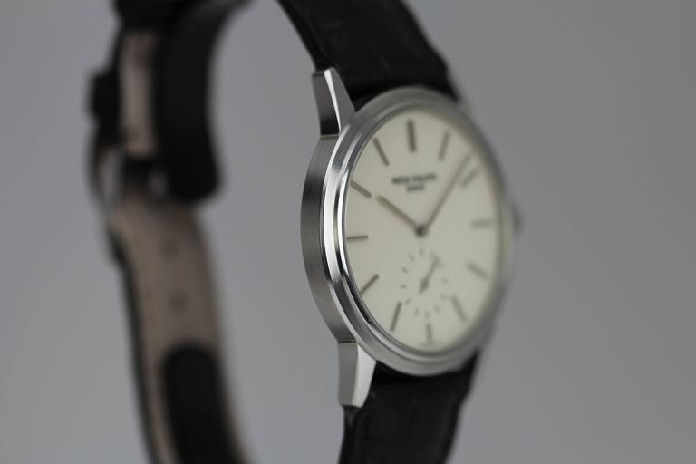 Patek Philippe Stainless Steel Calatrava Japanese Special Ed Wristwatch Ref 3718 4