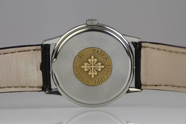 Patek Philippe Stainless Steel Calatrava Japanese Special Ed Wristwatch Ref 3718 7