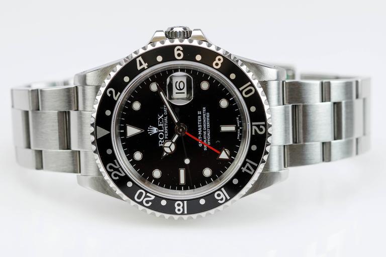 Rolex Stainless Steel GMT Master II Ref 16710  Wristwatch 4