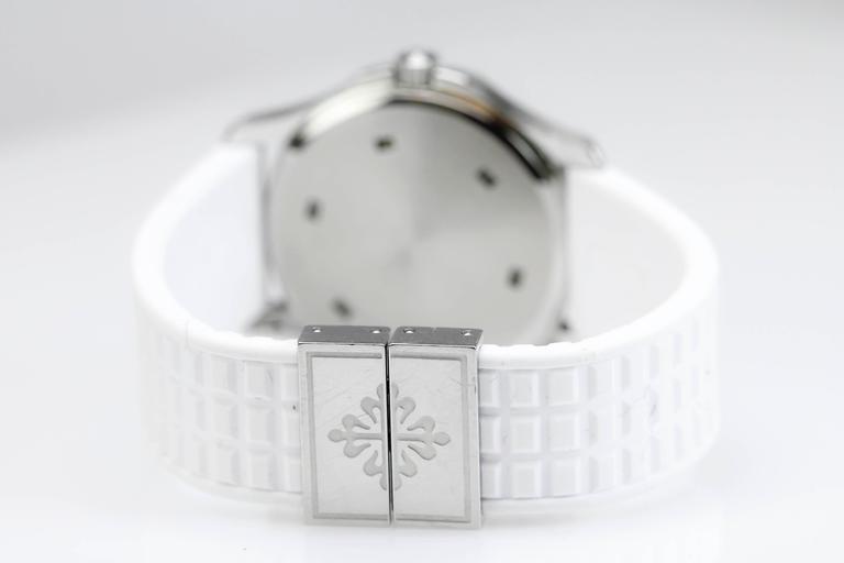 Women's Patek Philippe Aquanaut Luce Pure White Ladies Watch Ref 4961A-011 For Sale