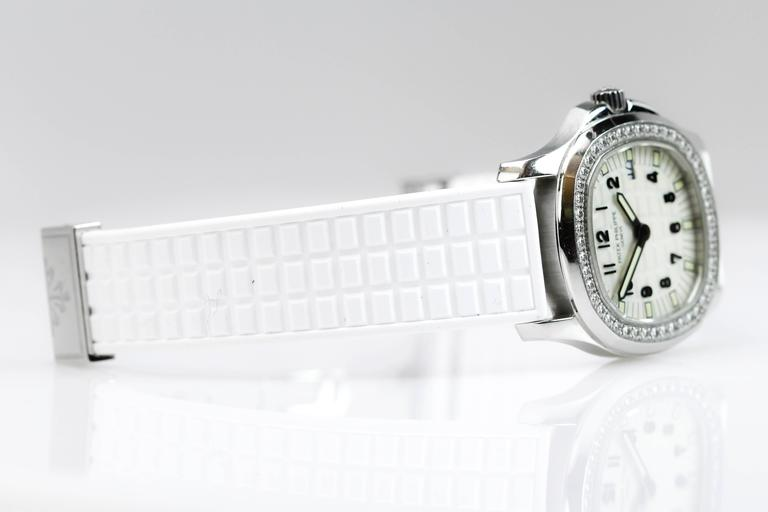 Patek Philippe Aquanaut Luce Pure White Ladies Watch Ref 4961A-011 In Excellent Condition For Sale In Miami Beach, FL
