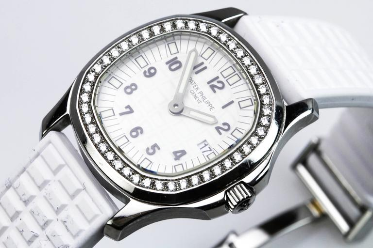 Patek Philippe Aquanaut Luce Pure White Ladies Watch Ref 4961A-011 For Sale 1