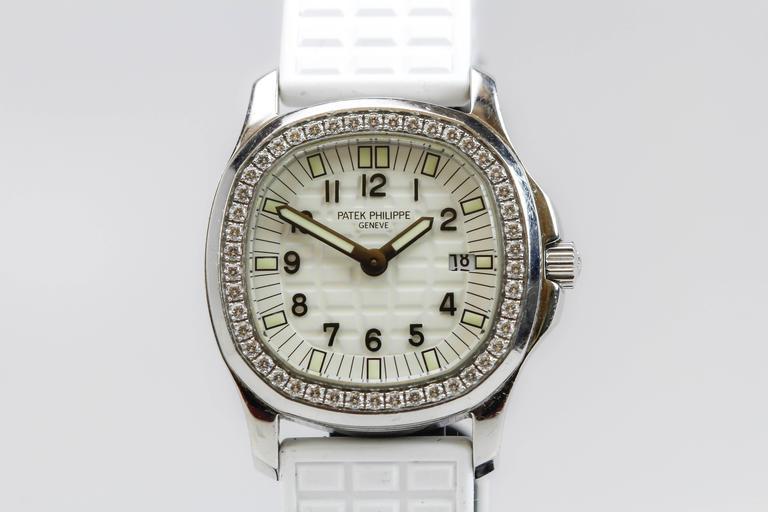 Patek Philippe Aquanaut Luce Pure White Ladies Watch Ref 4961A-011 For Sale 2