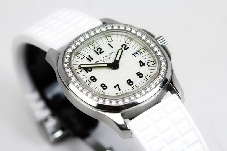 Patek Philippe Aquanaut Luce Pure White Ladies Watch Ref 4961A-011 9
