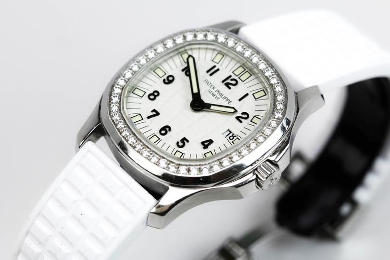 Patek Philippe Aquanaut Luce Pure White Ladies Watch Ref 4961A-011 For Sale 4