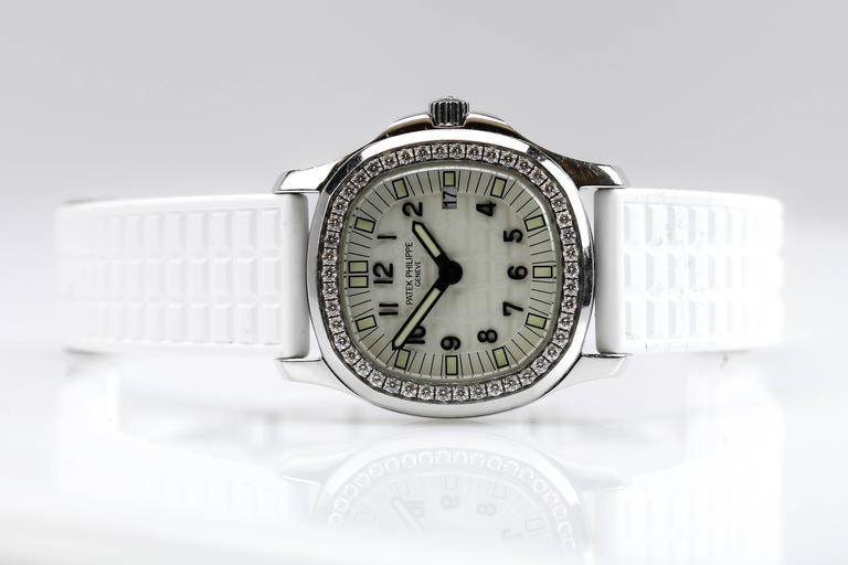 Patek Philippe Aquanaut Luce Pure White Ladies Watch Ref 4961A-011 7