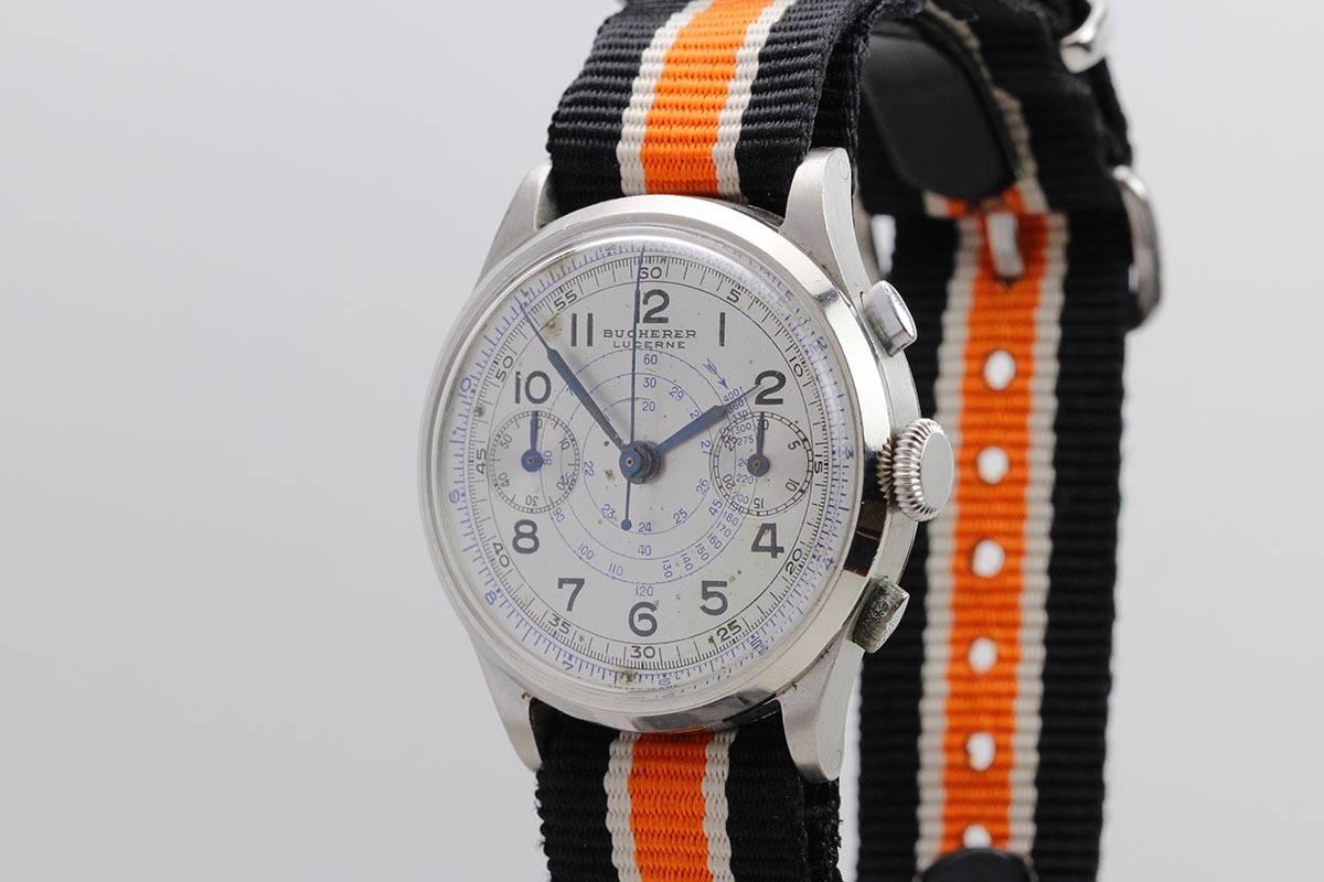 Steel Stainless For At 1stdibs Chronograph Sale Bucherer Wristwatch HED29IW