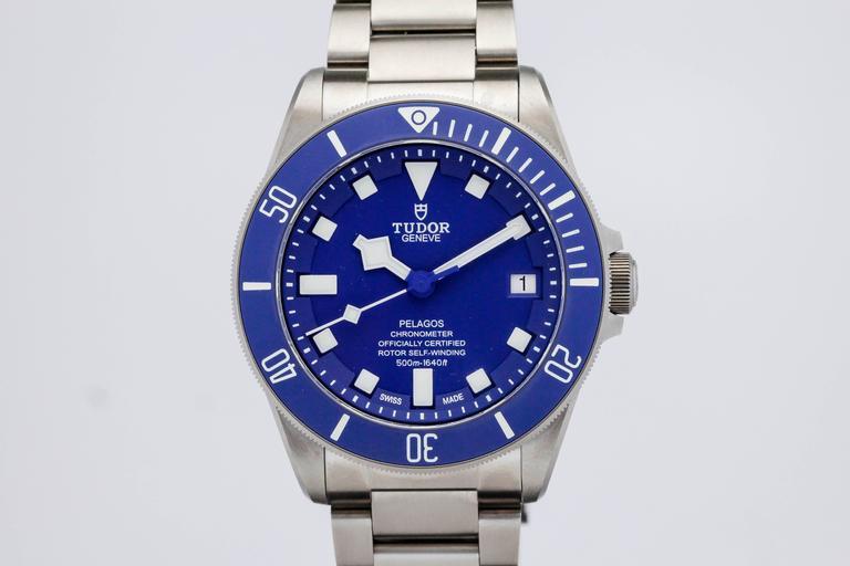 Tudor titanium pelagos blue dive automatic wristwatch ref - Tudor dive watch price ...