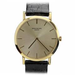 Patek Philippe Yellow Gold Dress Wristwatch Ref 3512