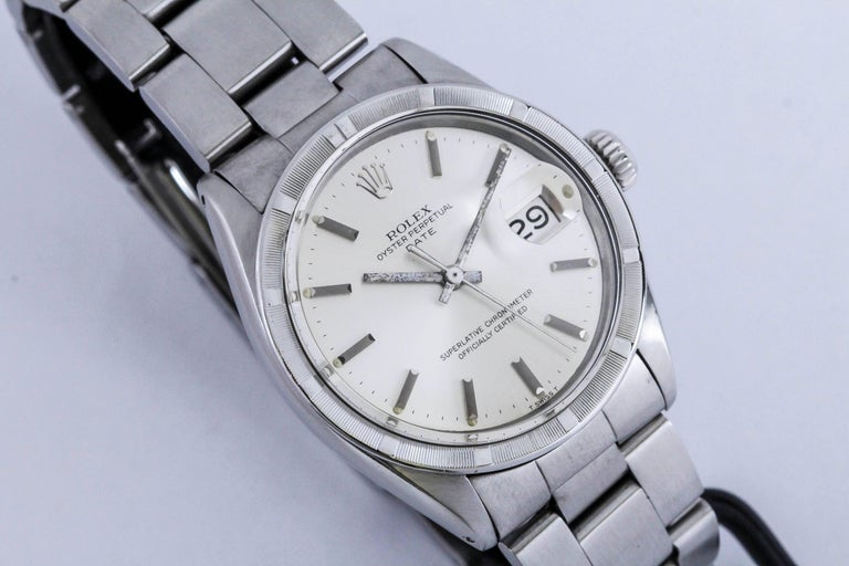 Rolex Stainless Steel Date Wristwatch Ref 1501, circa 1970 For Sale 1