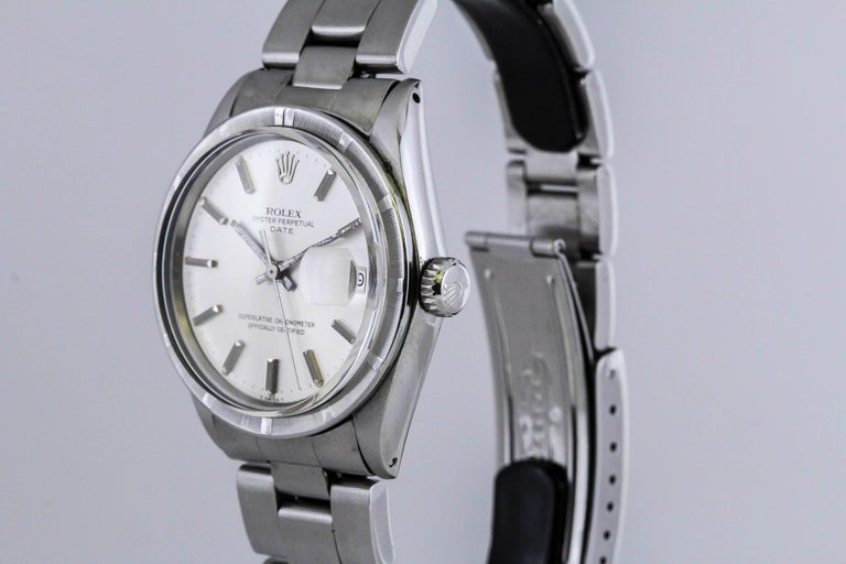 Rolex Stainless Steel Date Wristwatch Ref 1501, circa 1970 For Sale 2