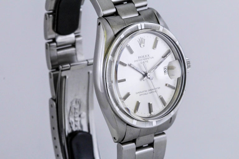 Rolex Stainless Steel Date Wristwatch Ref 1501, circa 1970 For Sale 3