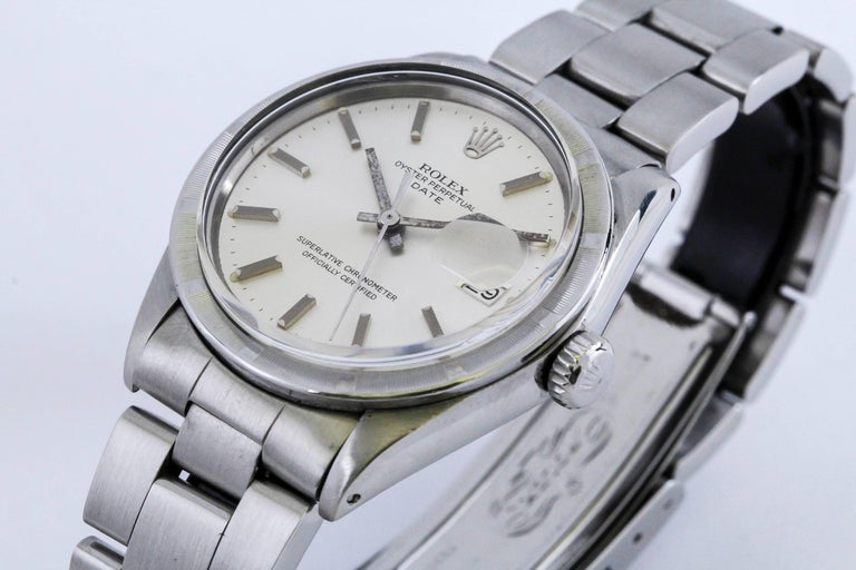 Rolex Stainless Steel Date Wristwatch Ref 1501, circa 1970 For Sale 4