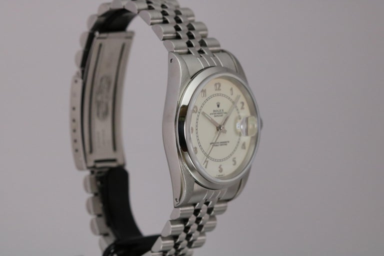 Rolex Stainless Steel Datejust Automatic Wristwatch Ref 16200, circa 1991 In Good Condition For Sale In Miami Beach, FL