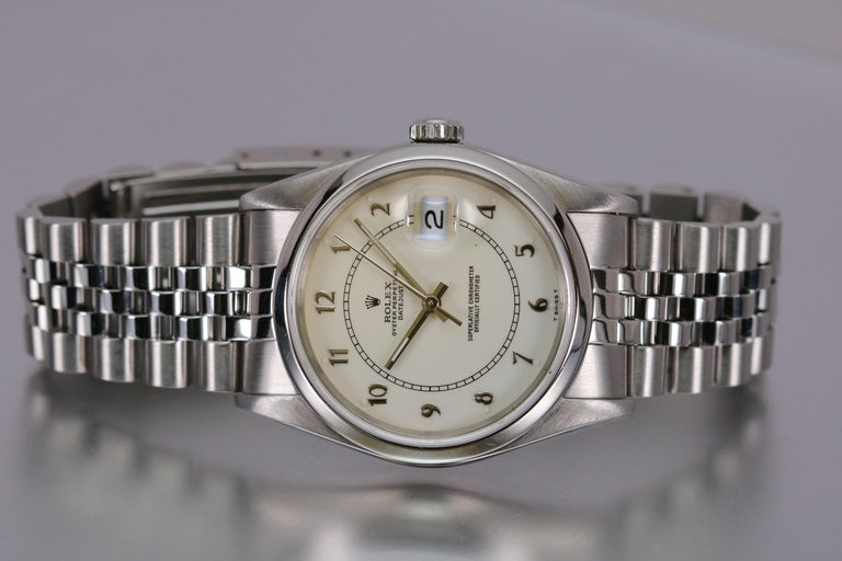 Men's Rolex Stainless Steel Datejust Automatic Wristwatch Ref 16200, circa 1991 For Sale